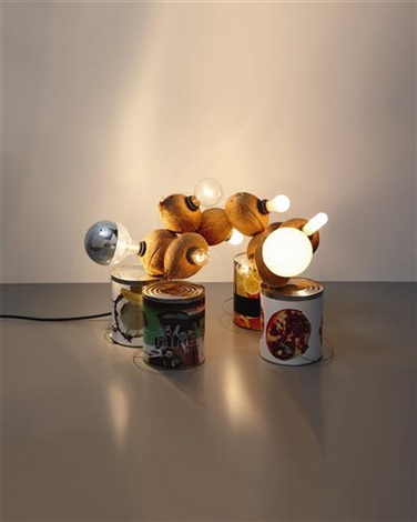 coconut lamp by kelley walker and wade guyton
