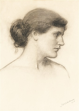 head study probably for a tale from the decameron by john william waterhouse