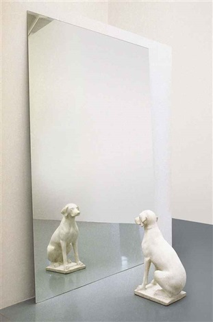 cane allo specchio dog in the mirror in 2 parts by michelangelo pistoletto