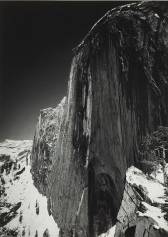 monolith the face of half dome by ansel adams
