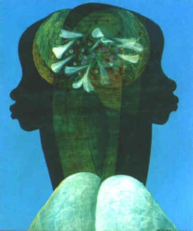 deux profils aux fleurs by bernard séjourné
