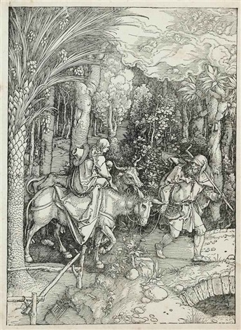 joachim and the angel and the flight into egypt from the life of the virgin 2 works by albrecht dürer