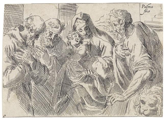die madonna mit kind und den heiligen hieronymus und franziskus by jacopo palma il giovane