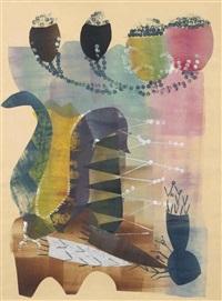 compositie met plantenvormen by hendrik nicolaas werkman