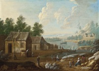 paysage fluvial animé by marc baets