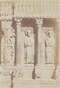 tympan et linteau de sainte-trophime, arles by charles nègre