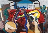 stillleben mit banjo und gitarre by herbert behrens-hangeler