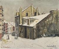 la maison de mimi pinson sous la neige à montmartre by maurice utrillo
