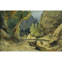 mühle im tal - mill in a valley by karl blechen