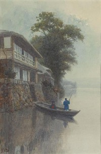 lakeside scene by japanese school (20)