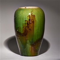 ovoid vase in as-found condition, boston, ma by grueby