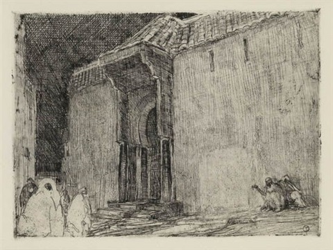 mosque tangier by henry ossawa tanner