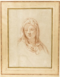 study for the head of the virgin by carlo maratta