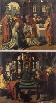 saint siméon reconnaissant l'enfant jésus by jan de beer