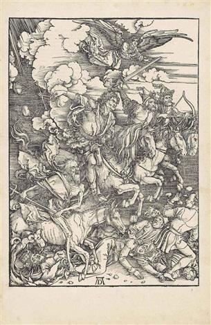 the four horsemen, from: the apocalypse by albrecht dürer