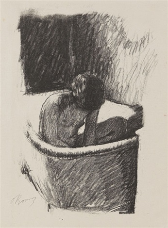 le bain by pierre bonnard
