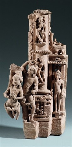 a central india sandstone fragment of a vishnu stele 11th12th century