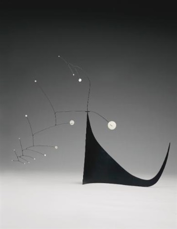 gypsophila on black skirt by alexander calder