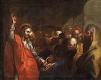 christus antwortet auf die steuerfrage der pharisäer (matth. 22, 15-22) by pietro muttoni