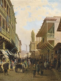 street in tiflis by petr petrovich vereshchagin