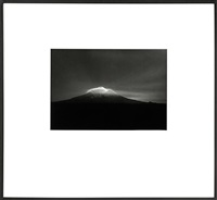 the prisoners dream no. 3 (taranaki from oeo rd, under moonlight, 27 - 28 september, 1999) by laurence aberhart