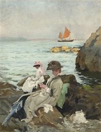 amongst the rocks by thomas benjamin kennington