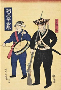 two japanese soldiers by utagawa yoshitora
