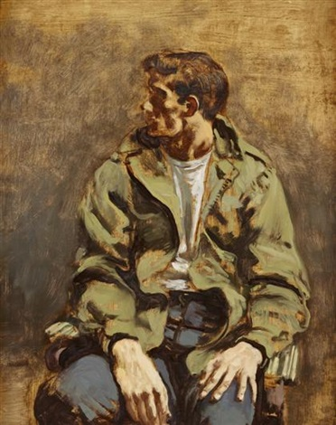 seated boy by walter stuempfig
