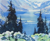 moraine lake by barbara (barleigh) leighton
