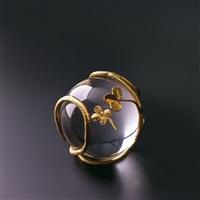 golden clover (golden clover) by claude lalanne
