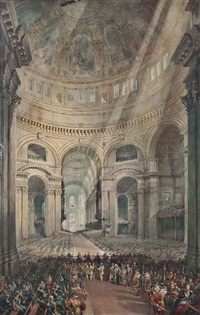 thanksgiving day, st. paul's cathedral by william collingwood smith