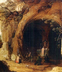 messe dans une grotte by guillaume forchondt the elder