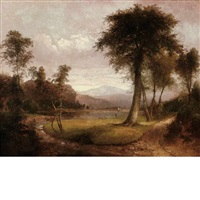 landscape with figures along the shore by thomas doughty