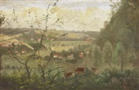 weite landschaft by henry lewis