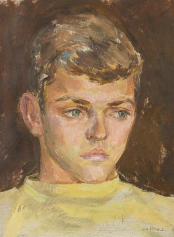boy in yellow sweater by paul cadmus