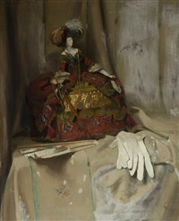 still life with doll by lizzy ansingh
