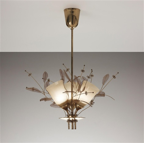 three armed ceiling light model no 9029 by paavo tynell