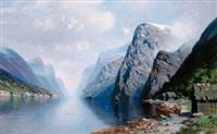 fjordlandschaft by johannes harders