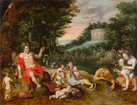 bacchus und gefolge by jan brueghel the younger
