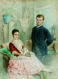couple dans un intérieur by charles camino