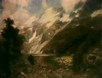 ziegenhirte am bergseeufer by hellmuth raetzer