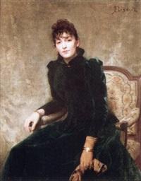 jeune femme de qualité assise by ferdinand bassot