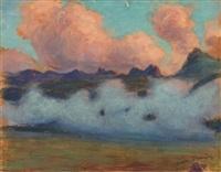 brume dans les montagnes by gaston prunier