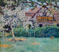 at the time of apple blossoms by nikolai petrovich bogdanov-bel'sky