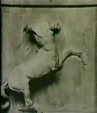 metope du parthenon, british museum: 2 photographies    montees en diptyque by w. a. mansell