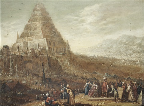 the tower of babel by rombout van troyen