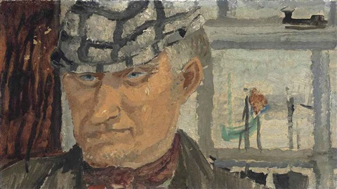 cornish fisherman in a cap by christopher wood