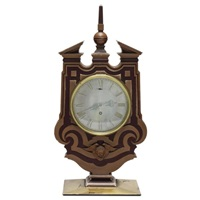 mantel clock, made for the occasion of the marriage of colonel c.o. harvey to miss i.m. pritchard by edwin henry lutyens