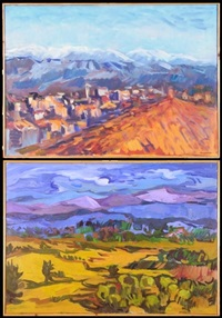 white mountain (+ cretan landscape, lrgr; 2 works) by dorothy andrews