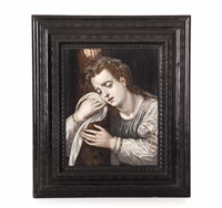 die hl. magdalena unter dem kreu by frans floris the elder